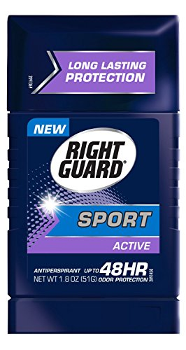 Right Guard Sport Antiperspirant Deodorant Invisible Solid Stick, Active, 1.8 Ounce (Pack of 12)