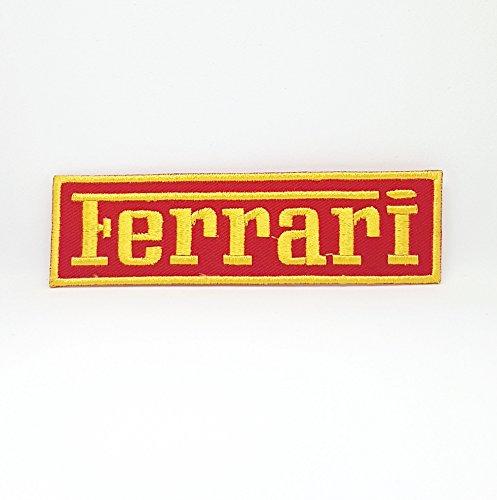 Parche bordado con logotipo de Ferrari Motorsports para planchar y coser