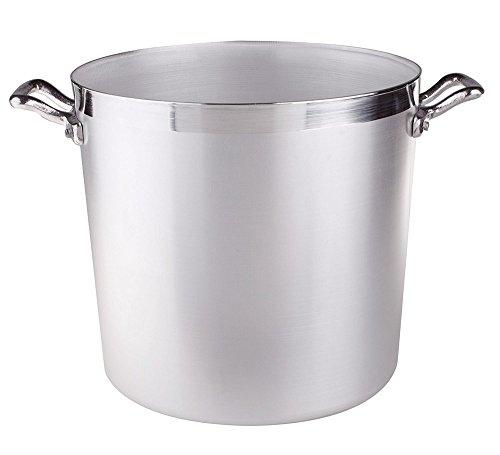 Ollas Agnelli cilíndricos Pot, Aluminio BLTF, con 2 manijas de Acero Inoxidable, 35 litros, Plata
