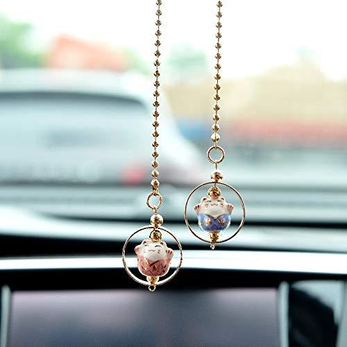 QWP Décoration Accessoires de Voiture Intérieur Miroir Décoration Hanging Rearview Ornement Auto Accessorie (Color Name : Blue)