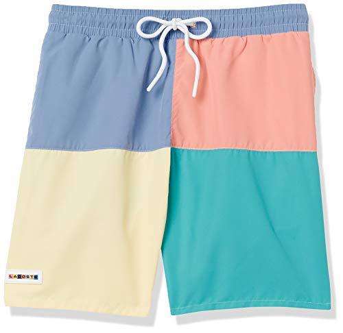 Lacoste Men's Color Block Elastic Waist Swim Trunks
