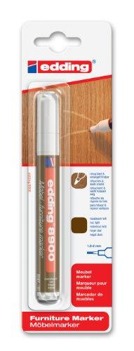 edding e-8900-1-4614 - Marcador para retocar muebles color Roble claro, Retoca y repara arañazos y desperfectos