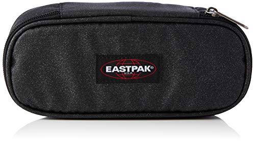 Eastpak Oval Single Astuccio, 22 cm, Tessuto glitterato, Nero (Spark Dark)