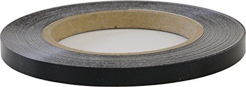 LinearDesigns One Quarter Inch Solid Stripe for Auto Truck Boat - 3mil Vinyl - 1/4' x 50' - Black