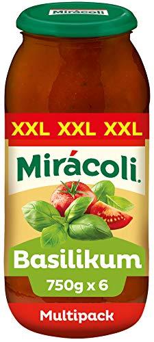 MIRÁCOLI Pasta Sauce Basilikum, 6 Gläser (6 x 750g)
