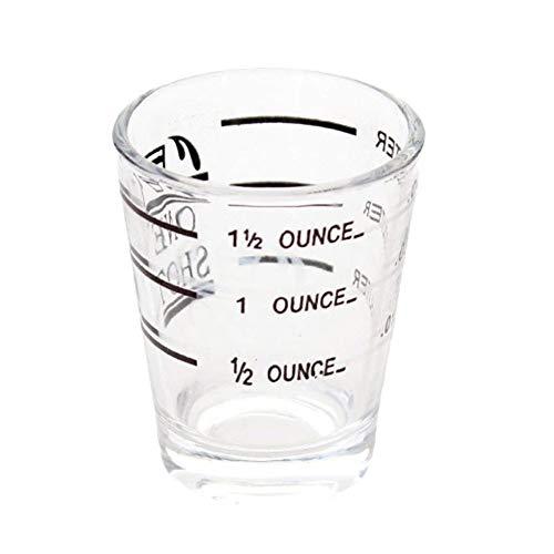 LDGR Vidrio Taza De Medición De Escala Transparente Mostrar Transparente Taza De Café Hogar Oficina Mike Copa De Cocina Recipientes Accesorios Fácil de Usar (Color : Clear)