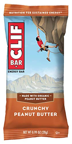 CLIF BAR - Mini Energy Bars - Crunchy Peanut Butter - (0.99 Ounce Snack Bars, 20 Count) (Packaging May Vary)
