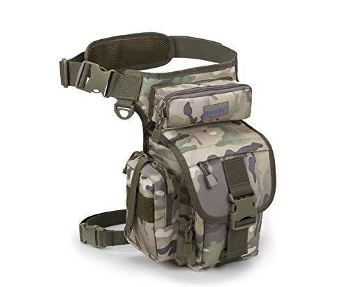 Jueachy Riñoneras de Marcha Unisex, Bolsa de Cintura Multifuncional para la Pierna táctica Militar para Pesca para Motociclismo Senderismo Camping Caza