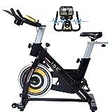 ISE Vélo d'appartement Vélo Spinning d'intérieur, Vélo Biking Fitness Cardio Exercice à la Maison, Pro Volant inertie de...