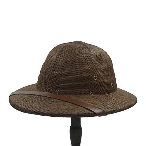 Turbante deportivo 2019 Paja salacot del sombrero de ala for las mujeres de los hombres del Ejército Guerra de Vietnam sombrero for el sol papá navegante sombreros del cubo del safari de selva de los
