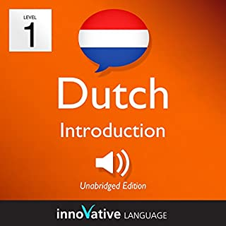 Learn Dutch - Level 1: Introduction to Dutch, Volume 1: Lessons 1-25 audiobook cover art