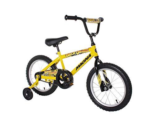 Dynacraft Magna Major Damage BMX - Bicicleta de Calle y Motocross (40,6 cm), Color Amarillo y Negro