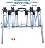 Zepre - Portacañas Lago Profesional con Anillo + Separador de cañas + Techo con Tubos de Aluminio 6-8-10 PST.
