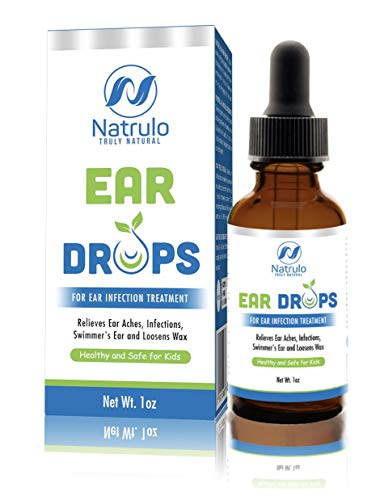 Natrulo Natural Ear Drops for Ear Infection Treatment - Homeopathic, Herbal Eardrops for Adults, Children & Pets - Relieves Ear Aches, Infections, Swimmer's Ear, Loosens Wax - Kids Safe, Made in USA