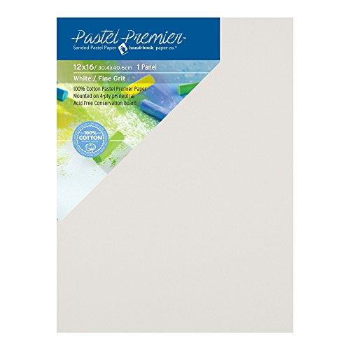 Pastel Premier Sanded Pastel Paper Conservation Panel, Fine Grit, 12X16 inches, White, 1 Panel