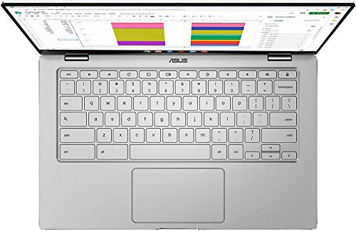 Product Image 7: ASUS Chromebook Flip C434 2-In-1 Laptop- 14″ Full HD 4-Way NanoEdge Touchscreen, Intel Core M3-8100Y Processor, 8GB RAM, 64GB eMMC Storage, Backlit KB, Chrome OS- C434TA-DS384T Silver