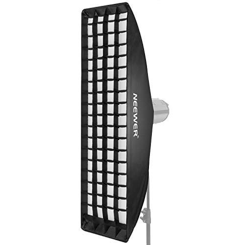 Neewer 22x90cm Softbox Rejilla Nido de Abeja con Velocidad de Montaje de Bowens para Speedlite Estudio Flash Monolight, Retrato y Fotografía de Producto