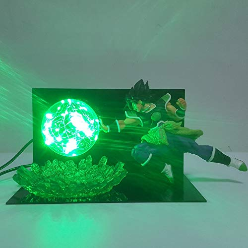 Dragon Ball Z Super Ultimate Soldiers The Movie Broly Led Night Lights Lámpara De Bombilla Dragon Ball Broly Led Lighting Lámpara De Mesa