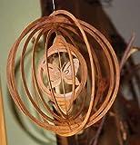 Rostikal Windspiel mit Schmetterling 18 cm Gartendeko Vintage Rost Deko Hängedeko Garten Deko