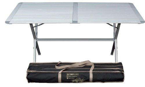 Tavolino da campeggio Genius, in alluminio, 150 x 80 cm