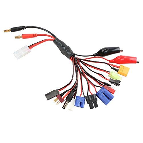 コネクタ、バナナとタミヤ入力のためのリード、EC 3、EC 5、XT 60、ミニTamiya、JST、Jr双葉、ワニクリップ、Tプラグ、MCX、MCP X、TRX、TX 5.5×2.5