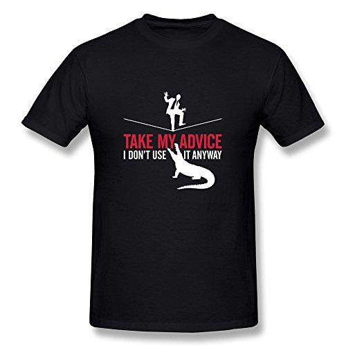 billwu hombre Take mi Consejo. I Don 't Use it de todos modos. Ayudar a cocodrilo fresco 1(2C) + + camiseta–negro