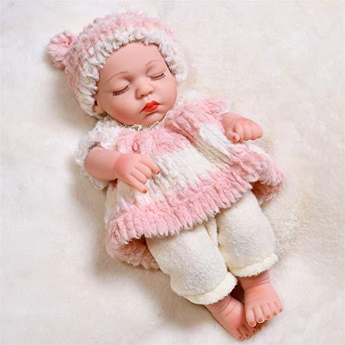 LBYB Muñeca 30cm Renacido Las muñecas del bebé de Silicona Suave Vinilo Moda Dormir muñeca muñeca de la muñeca interactiva Apto para Menores de 14 años de Edad,Rosado