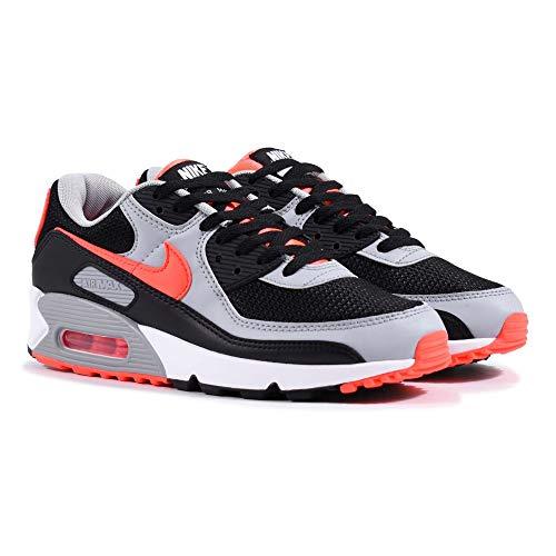 Nike Air MAX 90, Zapatillas Deportivas Hombre, Black Red, 44 EU