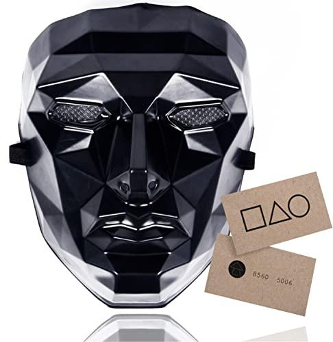 TK Gruppe Timo Klingler The Game Mask - + 1x carta de juego para Halloween, Mardi Gras y Carnaval como disfraz para hombres y mujeres