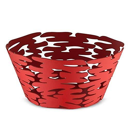 Alessi Barket Panier rond Ø 21 cm Rouge