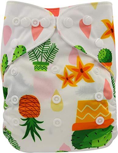 Ohbabyka Couche de poche réglable unisexe en tissu avec 1 intérieur en daim doux (OB170)