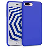 kwmobile Cover Compatibile con Apple iPhone 7 Plus / 8 Plus - Custodia in Silicone TPU - Back Case Protezione Cellulare Blu Elettrico