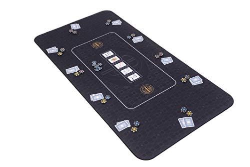 Riverboat Gaming The Broadway Pokermatte in schwarz Pokertisch - Pokertischauflage - 180 x 90cm