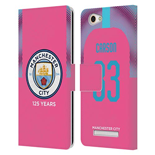 Head Case Designs Ufficiale Manchester City Man City FC Scott Carson 2019/20 Giocatori Away Kit Gruppo 2 Cover in Pelle a Portafoglio Compatibile con Wileyfox Spark X