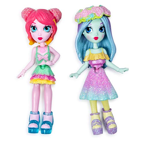Off the Hook Style BFFs, Brooklyn & Alexis (Spring Dance), 4' Small Dolls with Mix & Match Fashions & Accessories, for Girls Aged 5 & Up