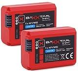 Baxxtar Pro - (2X) Compatible avec Batterie Sony NP-FW50 avec infochip - système de Batterie Intelligente