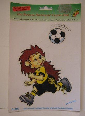 Das Borussia Dortmund Fensterbild (Bogenmaß 24 x 16 cm) : Haftet ohne Klebstoff (Auch von innen am Autofenster) - Beliebig oft verwendbar : ACHTUNG: NICHT für Kinder unter 3 Jahren geeignet