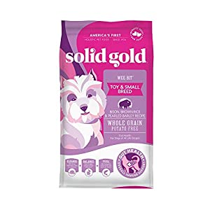 Solid Gold – Wee Bit With Real Bison, Brown Rice & Pearled Barley – Potato Free – Fiber Rich with Probiotic Support – Holistic Dry Dog Food for Small Dogs of All Life Stages