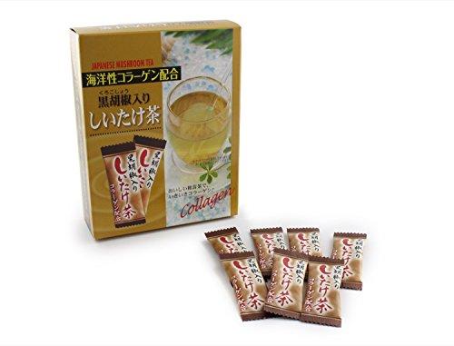 海洋性コラーゲン配合 黒胡椒入りしいたけ茶 2gx40包 MT-SIITAKECYA-1 粉末