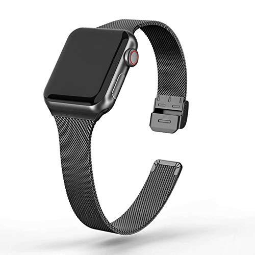 Banda de reloj de metal de acero inoxidable para apple watch 44 mm 40 mm 38 mm 42 mm Serie 6 5 4 SE Correa delgada para iWatch iWatch3 2 1