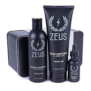 ZEUS Starter Beard Care Set, Beard Wash and Regular Beard Oil (Verbena Lime) MADE IN THE USA 7