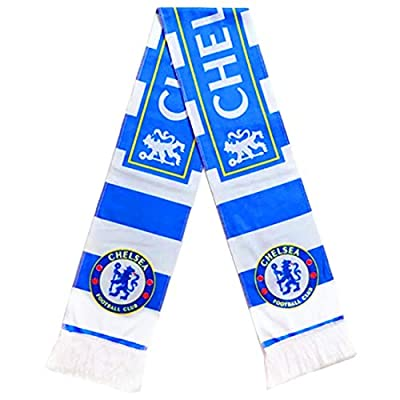 Chelsea FC Knit Scarf Soccer Knitted Double Sided Print Scarf for Men Women