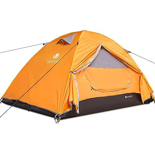V VONTOX Camping Zelt, 1-3 Personen Wasserdichtes Ultraleichte Kuppelzelt, mit Aluminum Zeltstange 3-4 Saison Wurfzelt, Kompaktes, für Familien Reisen, Strand, Camping und Outdoor