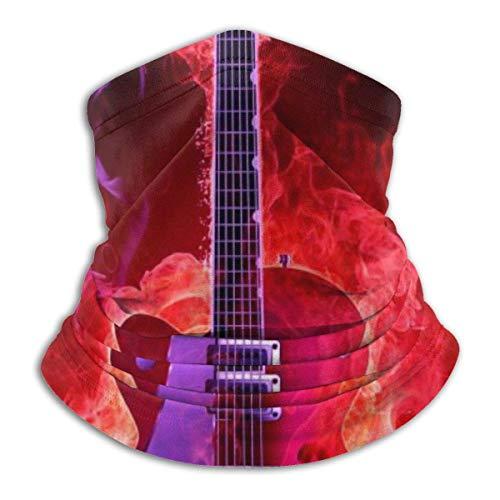 Fire Guitar Neck Gaiter Warmer Windproof Face Shield Scarf Magic Balaclava Sports de Plein air