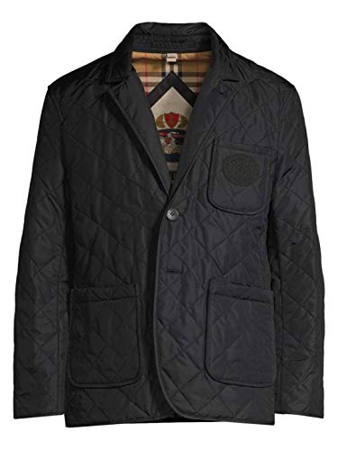 BURBERRY Men's Clifton Diamond Quilted Thermoregulated Jacket in Black