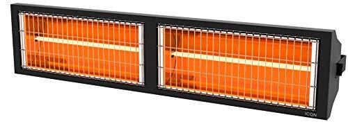 ICQN IT3000.L Halogen Low Glare Heizstrahler | 3000 Watt | Professioneller Heizstrahler | IP55 | Infarotstrahler | Infarotheizung für Hallen und Lager | Thermo Series