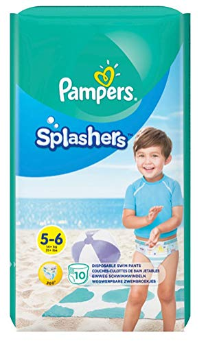Pampers Splashers Swim Diapers Disposable Swim Pants, Large (> 31 lb), 10 Count