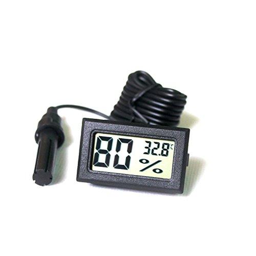 Ytian LCD Tuner Numérique Intégré Thermomètre Hygromètre avec Sonde Externe pour Couveuse Aquarium Volaille Reptile Noir