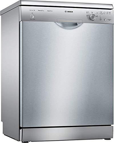 Bosch Elettrodomestici Serie 2 SMS25AI01J Lavastoviglie, 12 Coperti Acciaio Inossidabile, Classe Energetica A++, Inox Verniciato