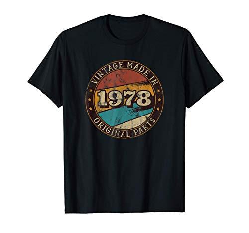 Nacido en 1978 - Piezas originales - Vintage Cumpleaños Camiseta
